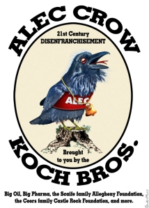 ALEC CROW #2 21st Century Disenfranchisement by DonkeyHotey