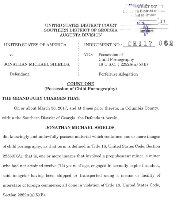John Michael Shields Indictment