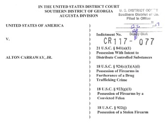 Alton Carraway, Jr. Indictment