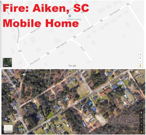 Whispering Pines Mobile Home fire graphic 12-24-17
